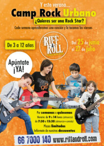 CAMP ROCK URBANO RIFF AND ROLL VERANO 2018